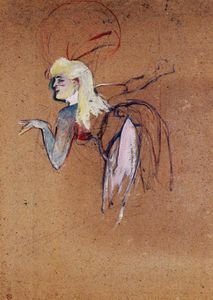 Henri De Toulouse Lautrec - Extra in the Folies Bergere Revue