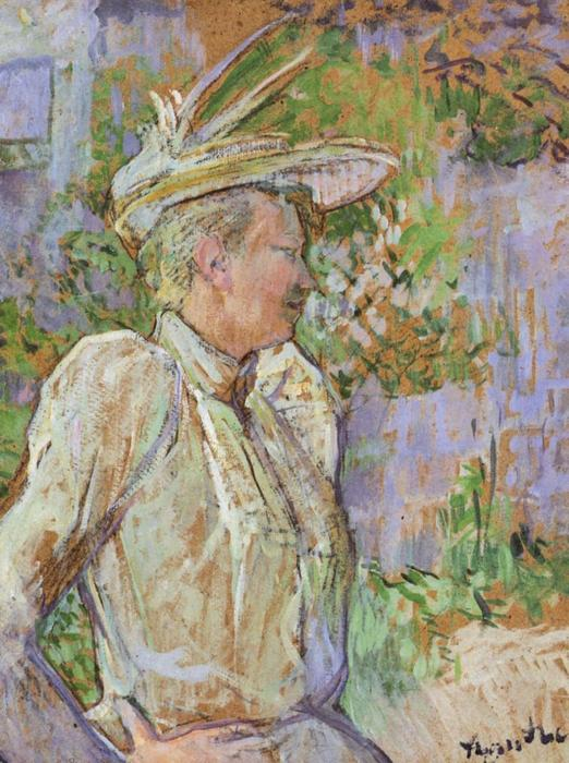 Gabrielle the Dancer, 1890 by Henri De Toulouse Lautrec (1864-1901, France) | Museum Art Reproductions Henri De Toulouse Lautrec | WahooArt.com