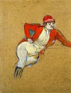 Henri De Toulouse Lautrec - La Macarona in Riding Habit