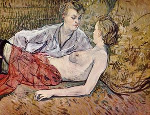 Henri De Toulouse Lautrec - Two Friends 1