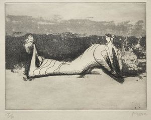 Henry Moore - Draped Reclining Figure 1