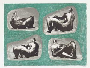 Henry Moore - Four Reclining Figures - Caves