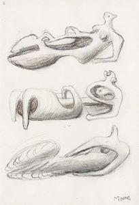 Henry Moore - Ideas for Sculpture; Three Reclining Figures