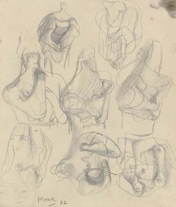 Henry Moore - Ideas for Sculpture; Transformation Drawing