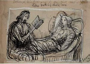 Henry Moore - One Girl Reading To Another