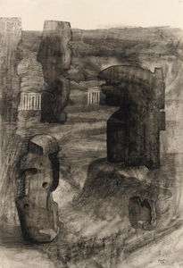 Henry Moore - Stones in a landscape