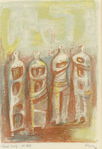 Henry Moore - The four sketches