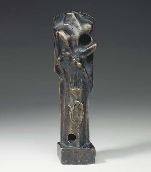 Upright Motive. Maquette No. 3 by Henry Moore (1898-1986, United Kingdom) |  | WahooArt.com