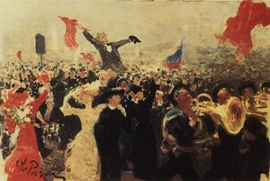 Ilya Yefimovich Repin - Demonstration on October 17, 1905 (Sketch)