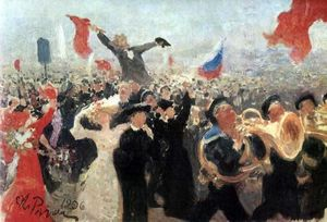 Ilya Yefimovich Repin - Demonstration on October 17, 1905