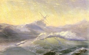 Ivan Aivazovsky - Bracing The Waves