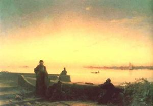 Ivan Aivazovsky - Mhitarists on island of St. Lazarus