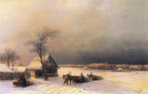 Ivan Aivazovsky - Moscow in Winter from the Sparrow Hills