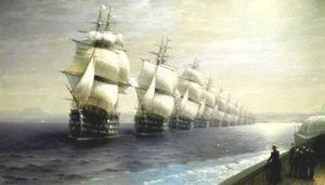 Ivan Aivazovsky - Parade of the Black Sea Fleet in 1849