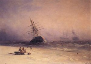 Ivan Aivazovsky - Shipwreck on the Black Sea