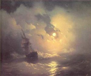 Ivan Aivazovsky - Tempest on the sea at nidht