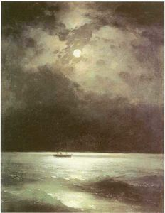 Ivan Aivazovsky - The Black Sea at night