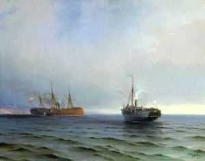 Ivan Aivazovsky - The capture of Turkish nave on Black sea
