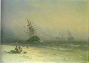 Ivan Aivazovsky - The Shipwreck on Northern sea