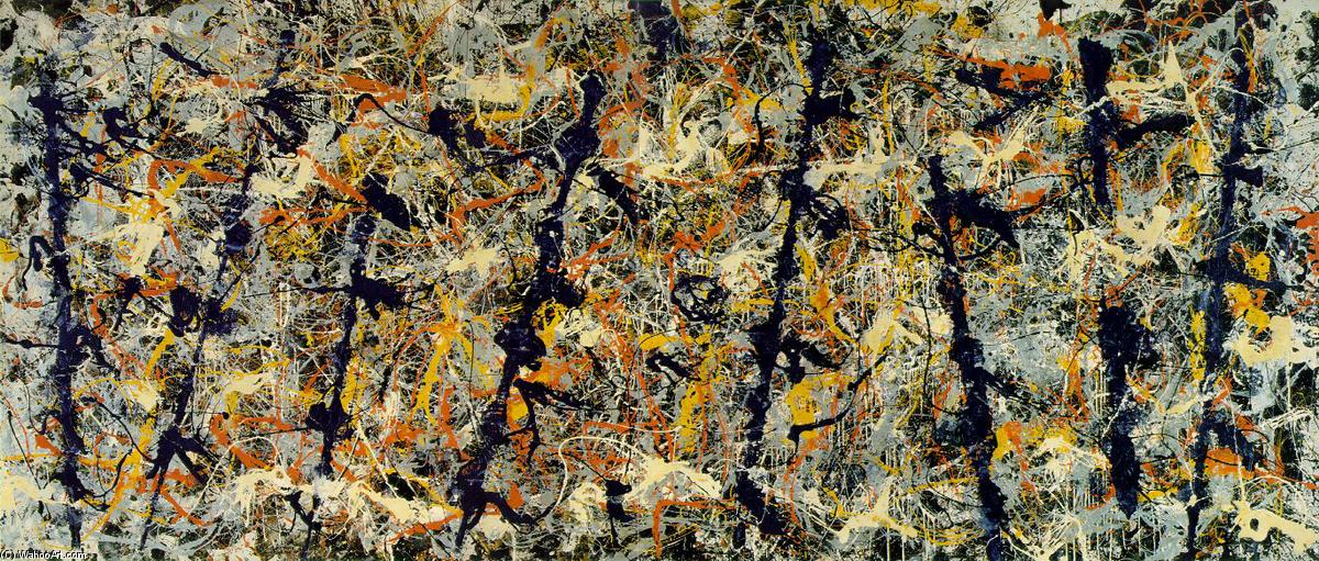 Blue poles (Number 11), Enamel by Jackson Pollock (1912-1956, United States)