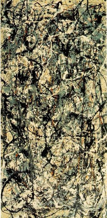 Cathedral, Oil by Jackson Pollock (1912-1956, United States)