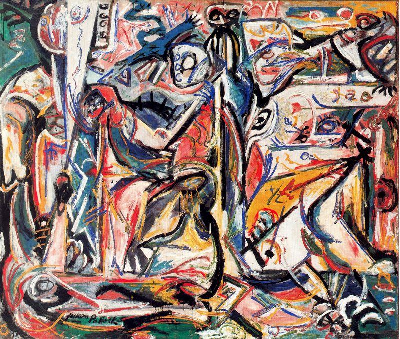 Circuncisión, Oil by Jackson Pollock (1912-1956, United States)