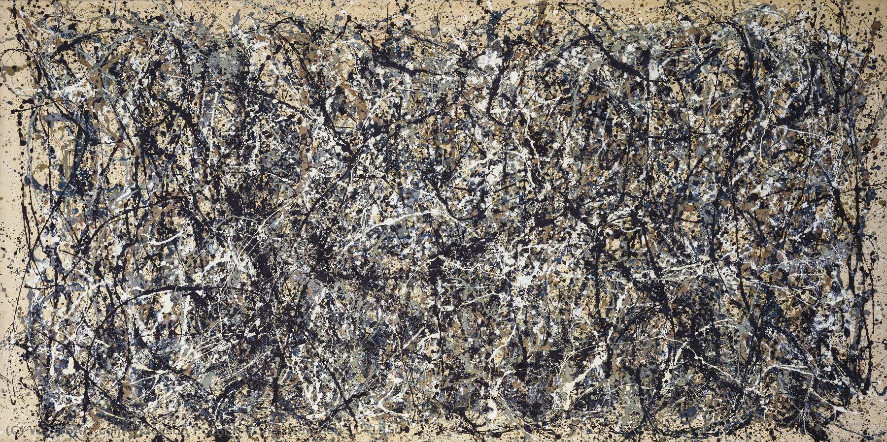 One. Number 31, 1950 by Jackson Pollock (1912-1956, United States) | Painting Copy | WahooArt.com