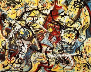 Jackson Pollock - Untitled (Composition with Pouring I)