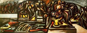 Jackson Pollock - Untitled (Composition with Ritual Scene)