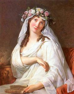 Jacques Louis David - A Vestal Virgin Crowned With Flowers