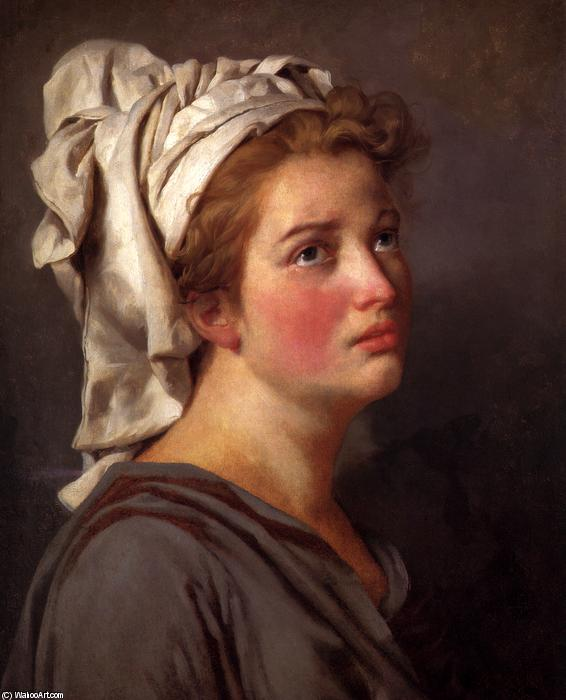 Portrait of a young Woman in a Turban by Jacques Louis David (1748-1800, France) | Art Reproduction | WahooArt.com