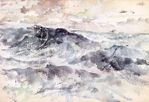 James Abbott Mcneill Whistler - Arrangement in Blue and Silver - The Great Sea