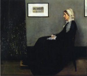 Arrangement in Grey and Black. Portrait of the Painter's Mother, Oil by James Abbott Mcneill Whistler  (order Fine Art painting copy James Abbott Mcneill Whistler)