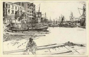James Abbott Mcneill Whistler - Eagle Wharf