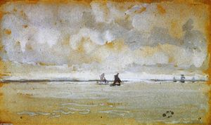 James Abbott Mcneill Whistler - Grey Note - Mouth of the Thames