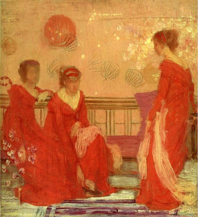Harmony in Flesh Colour and Red, Oil On Canvas by James Abbott Mcneill Whistler (1834-1903, Us)