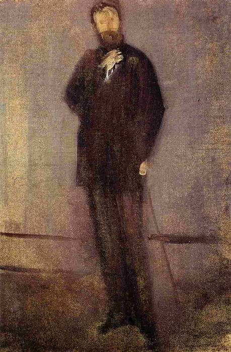 Study for the Portrait of F. R. Leyland, 1870 by James Abbott Mcneill Whistler (1834-1903, United States) | Museum Quality Reproductions | WahooArt.com