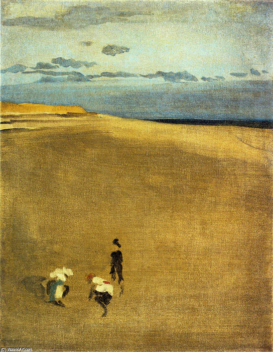The Beach at Selsey Bill, Oil by James Abbott Mcneill Whistler (1834-1903, United States)