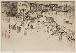 James Abbott Mcneill Whistler - The Riva I