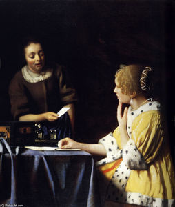 Jan Vermeer - Mistress and Maid