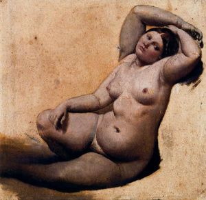 Jean Auguste Dominique Ingres - Oil sketch for The Turkish Bath