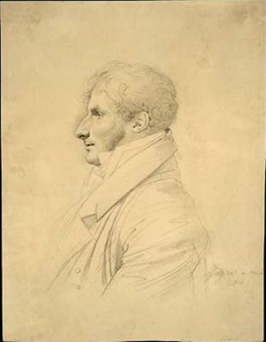 Philippe Mengin de Bionval, Drawing by Jean Auguste Dominique Ingres (1780-1867, France)