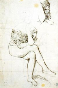 Jean Auguste Dominique Ingres - Study for the Portrait of Barones Betty de Rothschild