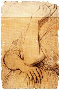 Jean Auguste Dominique Ingres - Study for the Portrait of Vicomtesse Louise-Albertine d'Haussonville