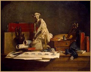 Jean-Baptiste Simeon Chardin - Still Life with the Attributes of the Arts