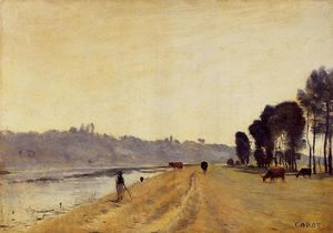 Jean Baptiste Camille Corot - Banks of a River