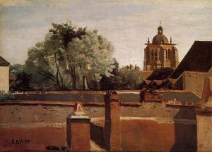 Jean Baptiste Camille Corot - Bell Tower of the Church of Saint-Paterne at Orleans