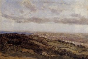 Jean Baptiste Camille Corot - Bologne-sur-Mer, View from the High Cliffs