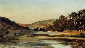 Jean Baptiste Camille Corot - The Aqueduct in the Valley