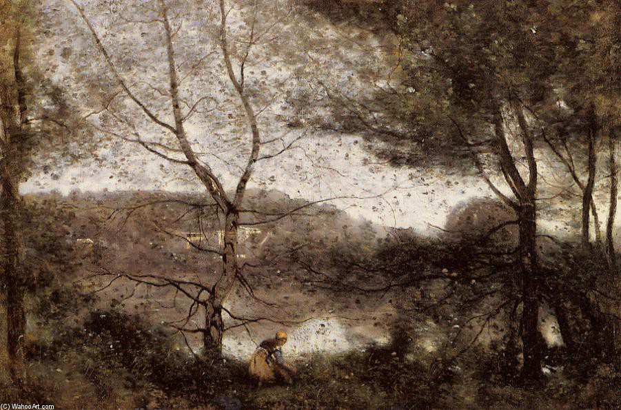 Ville d`Avray by Jean Baptiste Camille Corot (1796-1875, France) | Museum Quality Reproductions | WahooArt.com